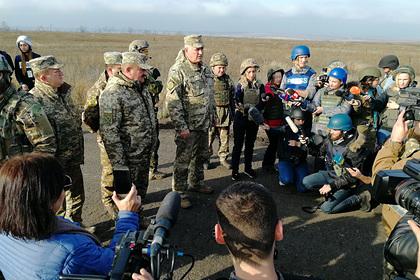 Украина обвинила ДНР в срыве разведения войск