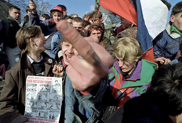 Зрители концерта в поддержку Ельцина, 1993 год