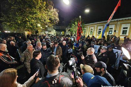 Украинские националисты осадили посольство Польши в Киеве