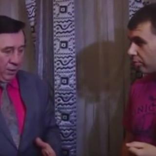Владимир Пермяков, сыгравший роль Лени Голубкова в рекламе МММ (слева), и Денис Пушилин
