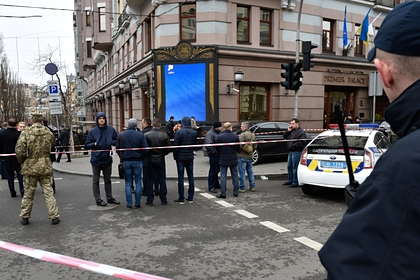 Место убийства экс-депутата Госдумы Вороненкова в Киеве