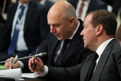Антон Силуанов и Дмитрий Медведев