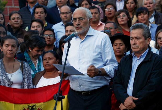 Бывший президент Боливии и кандидат от оппозиции на выборах 2019 года Карлос Меса