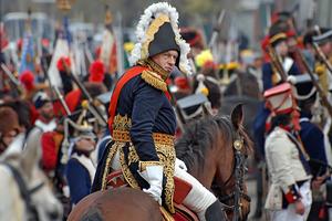 Олег Соколов в роли Наполеона во время реконструкции боя за Малоярославец  (2007)