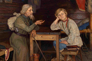 Николай Богданов-Бельский «Будущий инок», 1889 год