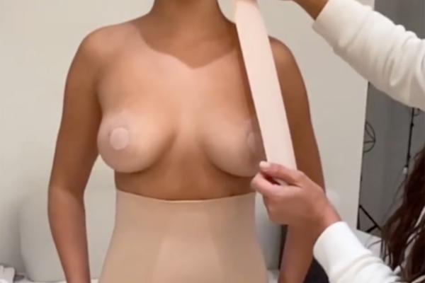 Ким Кардашьян показала безболезненный способ подтянуть грудь