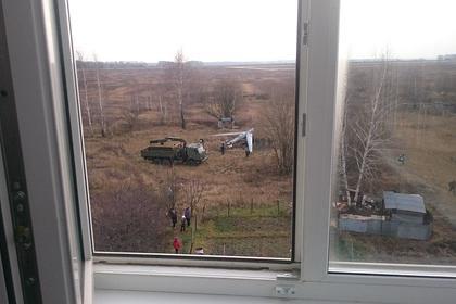 Российский военный беспилотник срубил сосну