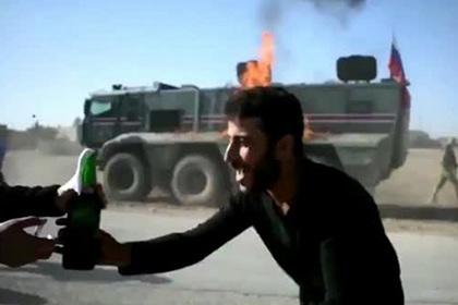 В Сирии подожгли российский патруль