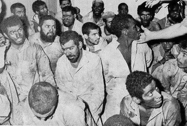 Захваченные во время штурма террористы