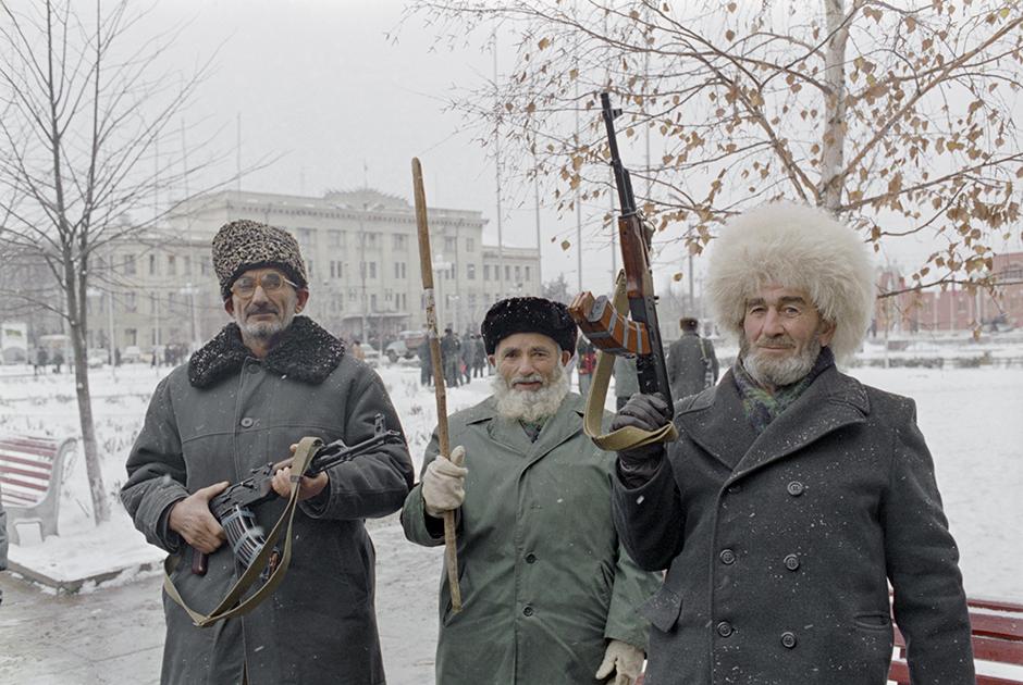 На улицах Грозного. 5 декабря 1994 года