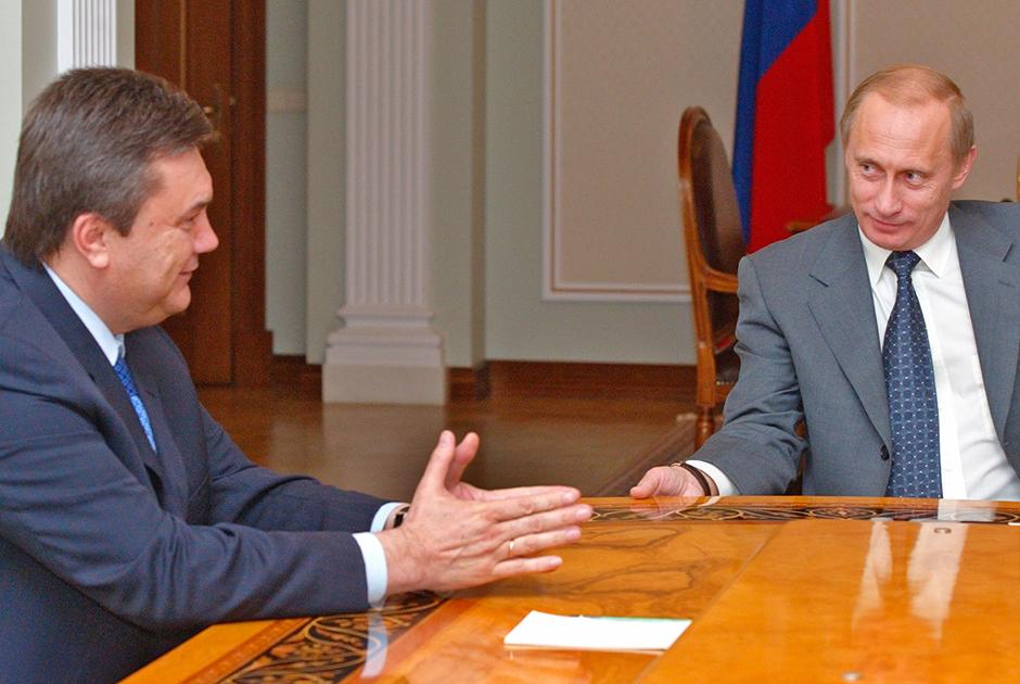 Виктор Янукович и Владимир Путин, апрель 2004 года