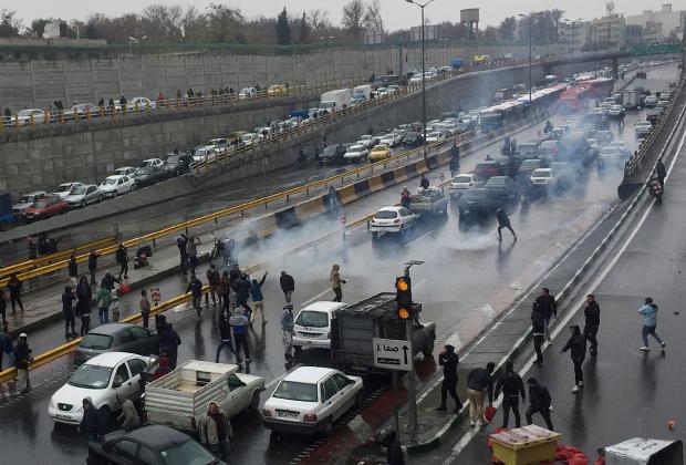 Протесты в столице Ирана, 16 ноября 2019 года
