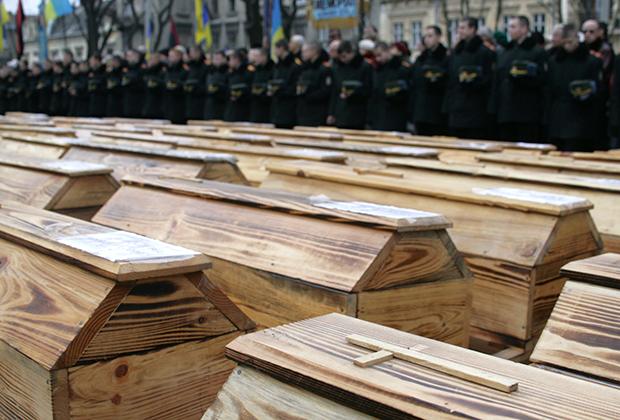 Перезахоронение останков жертв голодомора во Львове, 2000 год