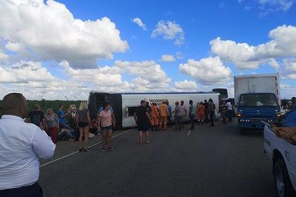 Вавтобусе, перевернувшемся вДоминикане, находились 39 жителей  РФ