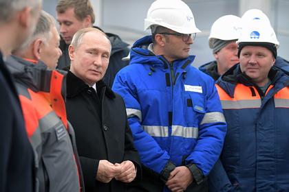 Владимир Путин на церемонии открытия трассы М-11 Москва — Санкт-Петербург