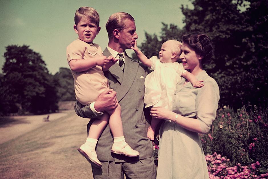 Семья принцессы Елизаветы незадолго до того, как она стала королевой, 1951 год