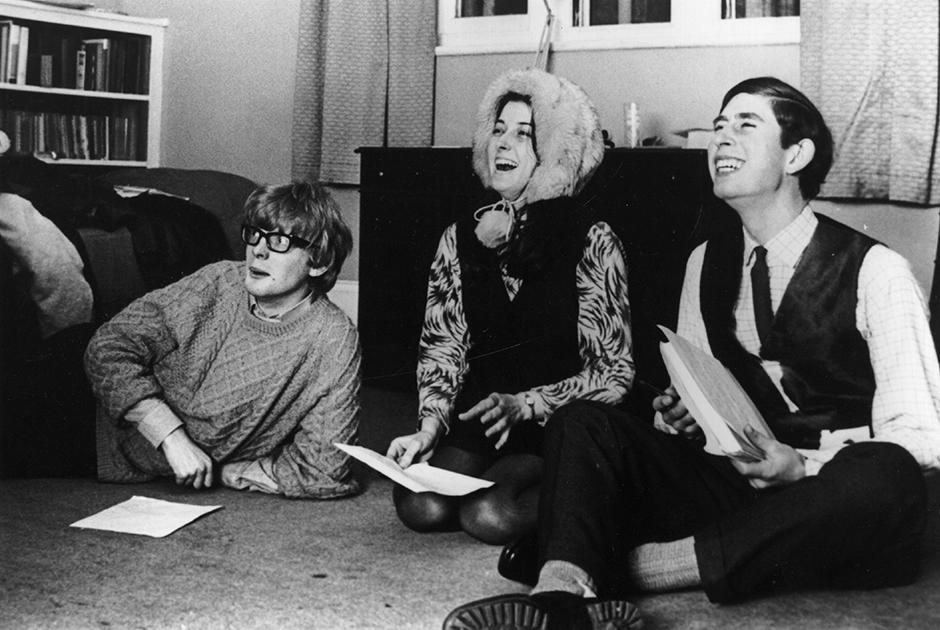 Принц с одногруппниками в Кембридже, 1969 год