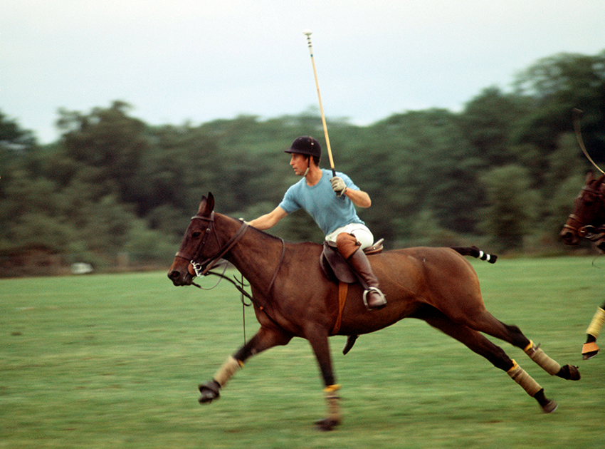 Принц за игрой в поло в Виндзоре, 1970-е
