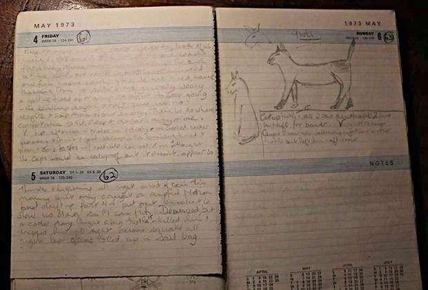 Страница из дневника Мэрилин
