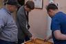 Из-за отсутствия во многих домах подъездов, социальная жизнь разворачивается прямо во дворах: люди общаются, играют в шашки или нарды.