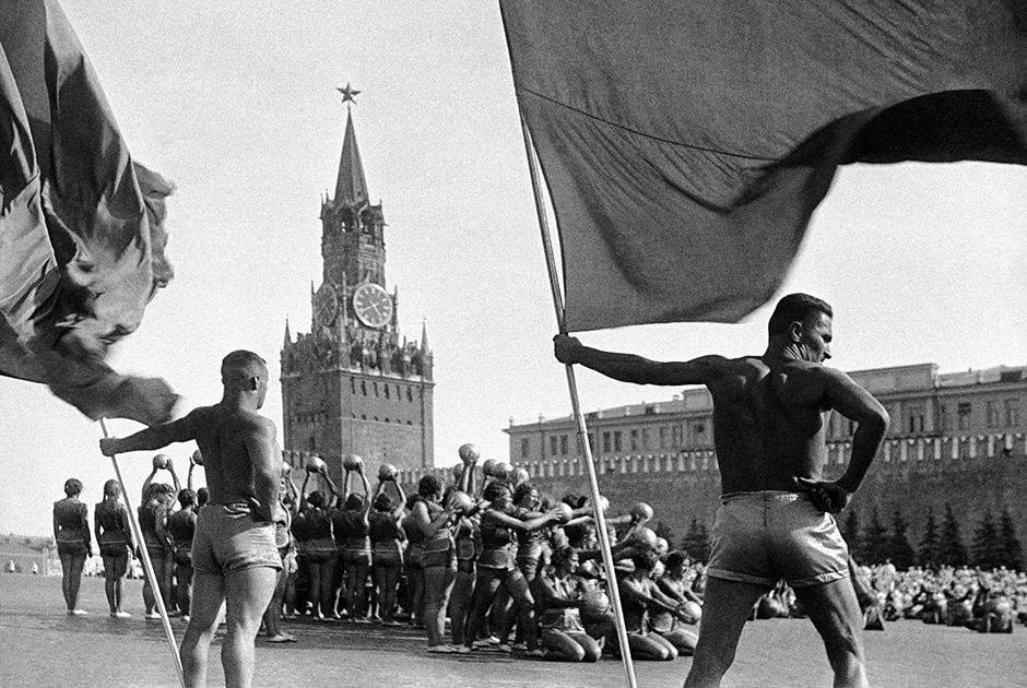 Физкультурный парад на Красной площади, 1938 год