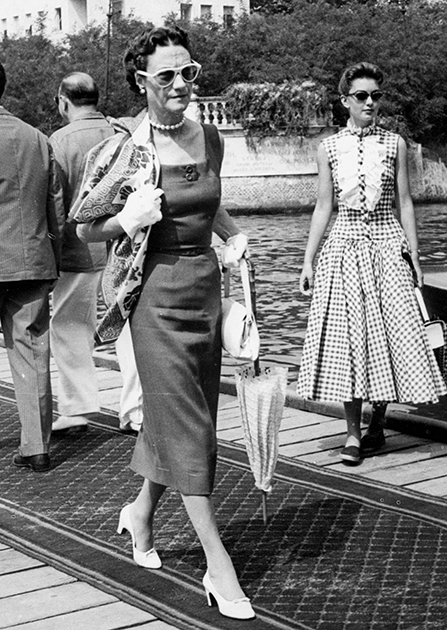 Уоллис Симпсон в Венеции в 1955 году.