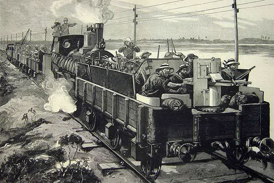 Британский блиндированный состав в Египте, 1882 год