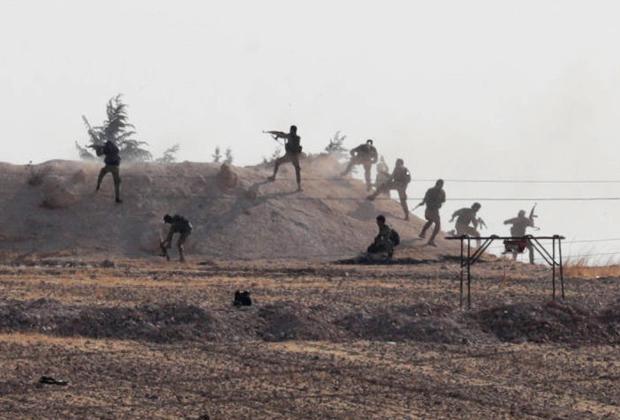 Поддерживаемые Турцией сирийские бойцы