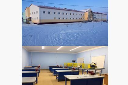 В отдаленном селе Якутии построили новую школу вместо сгоревшей