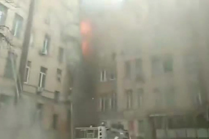 Опубликовано видео с места крупного пожара в Одессе