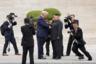 Президент США Дональд Трамп и лидер Северной Кореи Ким Чен Ын встретились в демилитаризованной зоне, разделяющей Северную и Южную Кореи, 30 июня. После приветствия Трамп перешел демаркационную линию и вступил на территорию КНДР. Он стал первым действующим президентом США, который посетил Северную Корею. Позже он сообщил, что пригласил Ким Чен Ына в Вашингтон, хотя и отметил, что визита не следует ждать в ближайшее время.