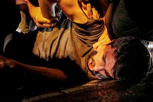 Задержание участника антиправительственной демонстрации в Анкаре