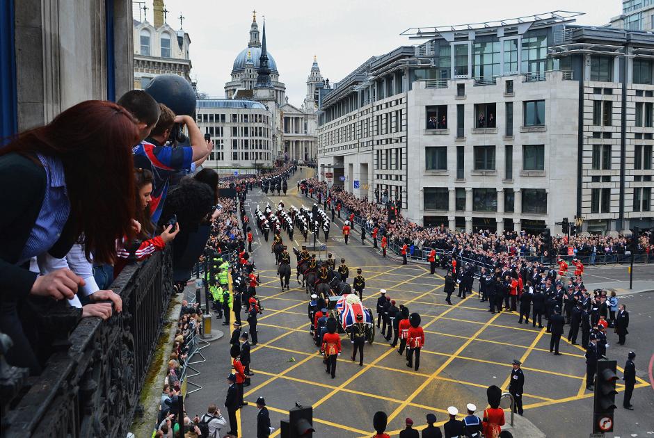 Похоронная процессия на лондонской Флит-стрит