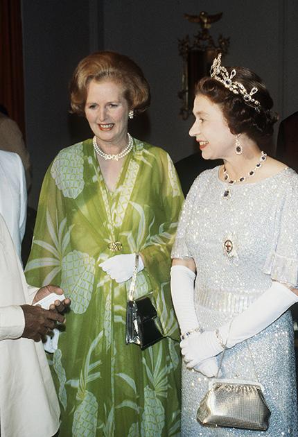Маргарет Тэтчер и Елизавета II на конференции стран Содружества в Замбии, 1979 год