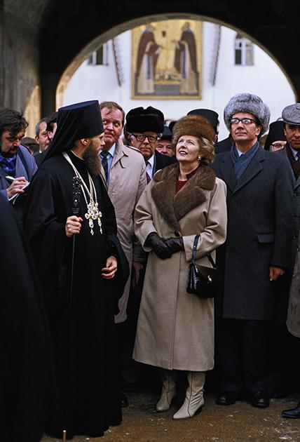 Маргарет Тэтчер в Троице-Сергиевой лавре. Сергиев Посад, 1987 год