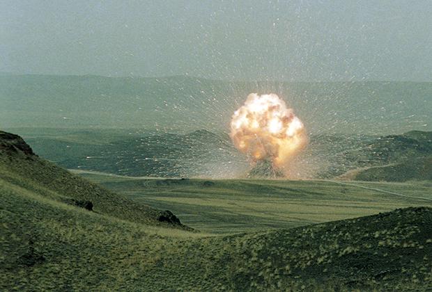 Уничтожение ракеты СС-23, Казахская ССР