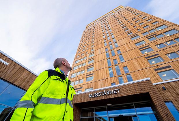 Деревянный небоскреб Mjøstårnet