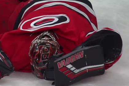 Игрок НХЛ одним ударом отправил в нокаут вратаря соперника