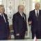 Борис  Ельцин (справа),  Станислав Шушкевич (в центре) и  Леонид Кравчук