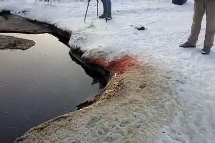 Россияне нашли «озеро» из крови
