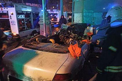 Момент аварии с тремя погибшими в Москве попал на видео