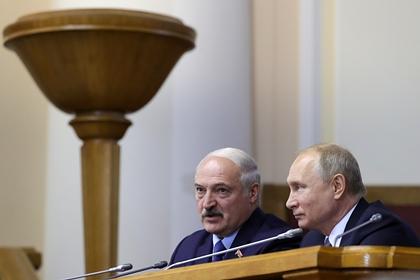 Начались переговоры Путина и Лукашенко