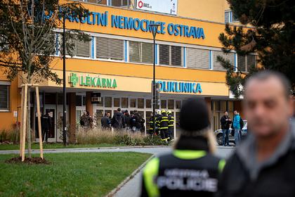Появились первые кадры с места стрельбы в Чехии
