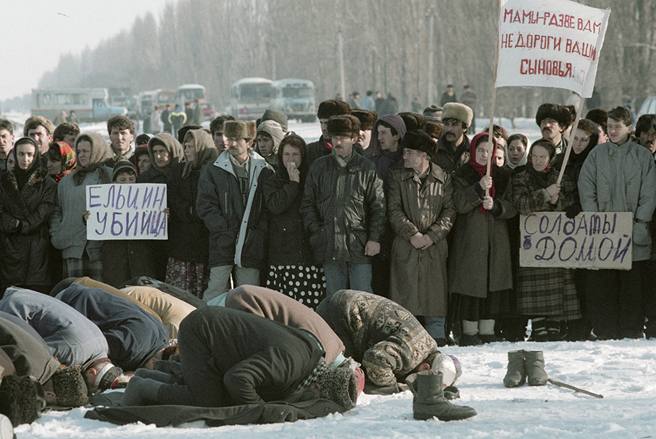 Митинг против ввода войск в Чечню. Ингушетия, 10 января 1995 года