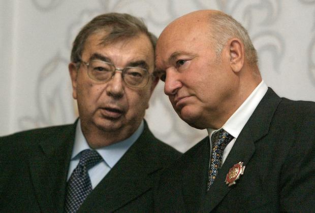 Евгений Примаков и Юрий Лужков