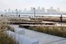 """Награду за самый удачный ландшафтный дизайн заслужила китайская студия Original Design. Архитекторы разработали решение для набережной реки Хуанпу в районе Янпу (Шанхай, Китай). «Это отличный выбор, позволяющий закрыть сразу несколько задач, — <a href=""""https://www.worldarchitecturefestival.com/Landscape-of-the-Year-2019"""" target=""""_blank"""">отметило</a> жюри WAF. — Дизайн, сохраняющий промышленное прошлое набережных Шанхая. Эта схема соединяет город с рекой, используя для этого тщательно проработанный материал исторического места»."""