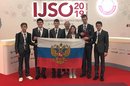 Шесть медалей завоевали школьники из России на научной олимпиаде в Катаре