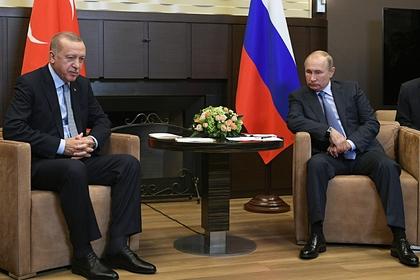 Путин поговорил с Эрдоганом по телефону