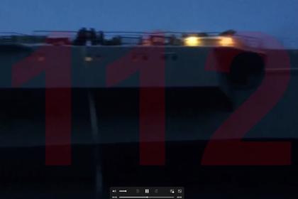 Появилось видео пожара на крейсере «Адмирал Кузнецов»
