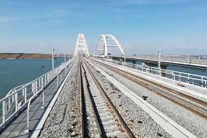 Путин проедет на поезде по Крымскому мосту